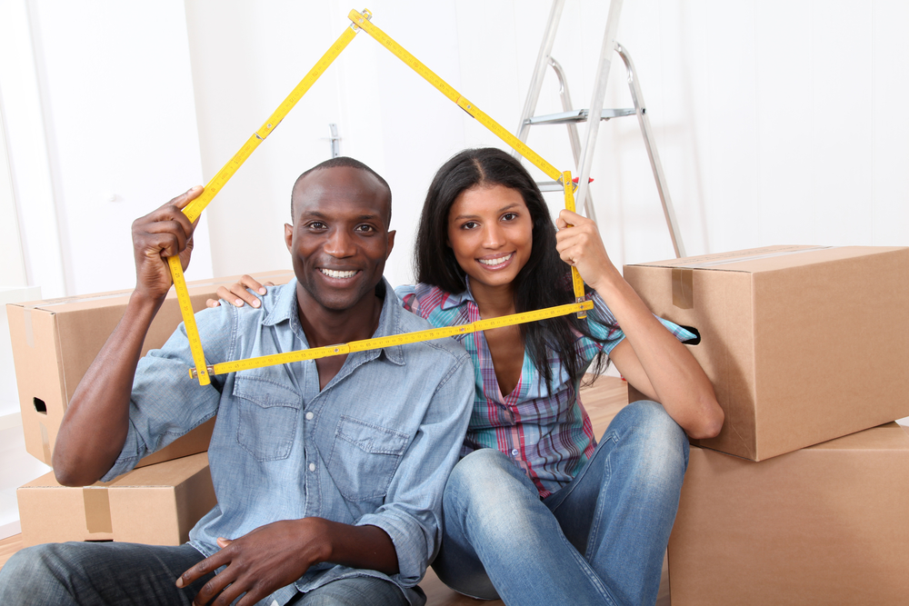 Young couple buying new home